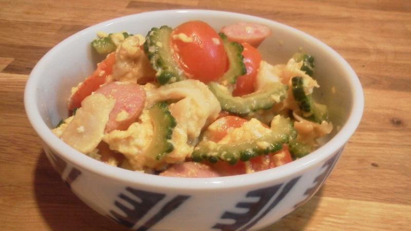 キャビック株式会社のブログ-ゴーヤとトマトの塩糀炒め①