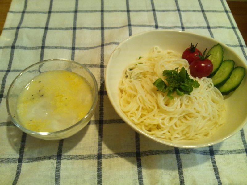 キャビック株式会社のブログ-特濃4.4ミルクで食べる変わり素麺①