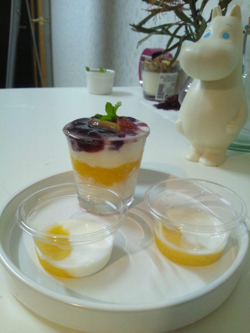 キャビック株式会社のブログ-果汁100%ジュレ4層のヨーグルト