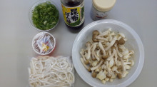 キャビック株式会社のブログ-ブナピーと納豆の冷やしうどん材料