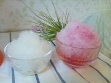 キャビック株式会社のブログ-『ローズヒップ』『C&レモン』かき氷できあがり